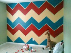 Painting Chevron Stripes made easy