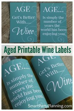 Fun wine labels will spruce up a plain bottle of wine. Printable wine labels make party decorating easy, but are also fantastic for gift giving.