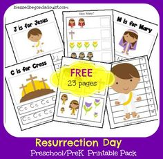 FREE Resurrection Day Printables for Preschool/PreK!