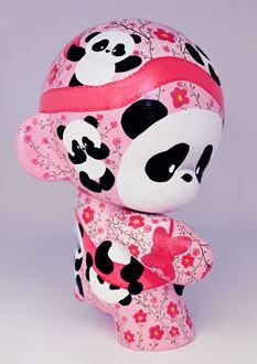 Pink Bow Precious Custom Munny by parochena