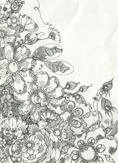 1000 Images About Zentangles Flowers On Pinterest Zentangle