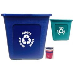 USA Made Recycling Bin | Eco Promotional Products, Environmentally and Socially Responsible Promotional Products