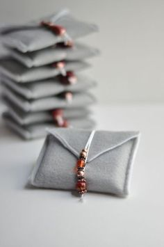 Felt Envelope Pouch • this heart of mine.... love these tiny little felt pouches for earrings (Travel), or for gift-giving!!