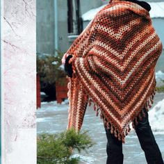 Crochet: sencilla ganchillo chal
