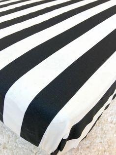 Black And White Stripe Crib Sheet