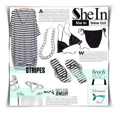 Shein -stripes- by dolly-valkyrie on Polyvore featuring GUESS, Patagonia, Abercrombie & Fitch, Adele Marie, Blue Nile, Pamela Love, ChloBo, Sheinside and shein