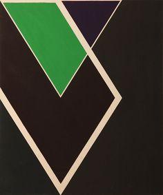 transistoradio:  Larry Zox (1936-2006), Diamond Drill (c.1968), acrylic and graphite on canvas, 102 x 122cm. Via 1stdibs.