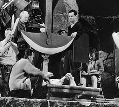 Roger Corman and crew on the set of Pit and the Pendulem. (Photo: American International Pictures).