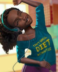 48 Ideas Diet Illustration Art Life For 2019 Black Love Art, Black Girl Art, Black Girls Rock, Black Is Beautiful, Black Girl Magic, Art Girl, Drawings Of Black Girls, Natural Hair Art, Black Girl Cartoon