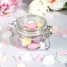 Your guests will delight at these gorgeous keepsake kilner jars. Each comes filled with your choice of stunning retro sweets. Wedding Favour Sweets, Seed Wedding Favors, Elegant Wedding Favors, Wedding Jars, Chic Wedding, Spring Wedding, Kilner Jars, Mason Jars, Retro Sweets