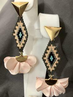 Macrame Earrings, Bead Earrings, Beaded Jewelry, Unique Earrings, Earrings Handmade, Beadwork, Boho Fashion, Women Jewelry, Jewelry Making