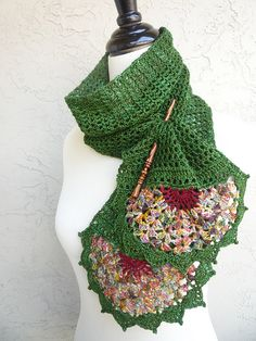 """Pattern for """"Blossomy Scarf"""" available to buy."""