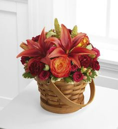 The FTD® Abundant Harvest™ Basket http://www.eddiesfloralgallery.net/product/the-ftd-abundant-harvest-basket/display
