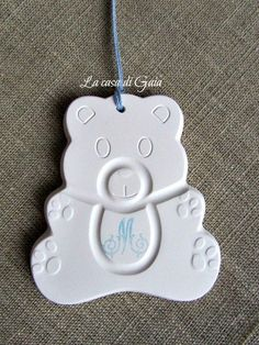 Orsetto in gesso profumato per bomboniere bimbi, by ♥La casa di Gaia♥, 1,50 € su misshobby.com