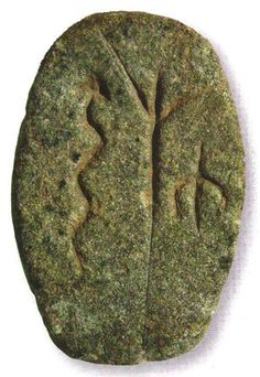 Stone discovered at Gobekli Tepe Temple in Turkey. images have been identified as a tree with a snake. The figure could be an eagle. The exciting part of this stone is what seems to be a direct connection between Gobekli Tepi and the Anunnaki. The tree and snake are so similar to the Sumerian reliefs of the snake in the Tree of Life and Enki's Brotherhood of the Snake. #art #relic