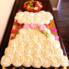100 Inspiring Bridal Shower Ideas , Or skip the cake entirely with this adorable configuration of cupcakes!See more photos from this bridal shower on a budget ►Photo Credit: Claudia Hernandez. Wedding Dress Cupcakes, Bridal Shower Cupcakes, Shower Cakes, Cupcake Wedding, Bride Cupcakes, Desserts For Bridal Shower, Bridal Shower Treats, Dessert Wedding, Brunch Decor