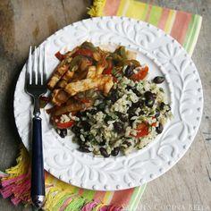 Easy Lime Cilantro Black Beans and Brown Rice - Sarah's Cucina Bella