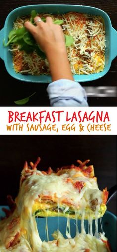 Breakfast Lasagna with Sausage, Egg & Cheese   15 Mouthwatering Recipes To Try In 2016.Feast-worthy eats.(With videos!)