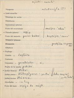 Cuestionario del ALPI nº 301. Transcripción fonética de guisantes, judías blancas, judías pintas y judías tiernas. La Campas, Oviedo. Cuaderno IIG, pág. 5. Archivo Lorenzo Rodríguez Castellano. Signatura LRC/16/301IIG (ACCHS-CSIC). http://aleph.csic.es/F?func=find-c&ccl_term=SYS%3D000068411&local_base=ARCHIVOS http://alpi.csic.es/