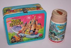 W Disney Magic Kingdom Mickey Donald Goofy Pirate Metal Lunch Box Vintage 1979