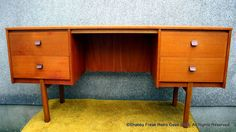 1960 s 70 s Vintage Retro Danish Style Teak Dressing Table / Desk  / by Symbol