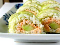 salmon cucumber sushi roll recipe