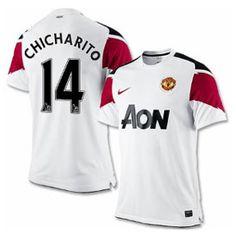 f5db78db3cd Nike Manchester United Chicharito Soccer Jersey (Away 2010 11)   SoccerEvolution  http