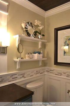 DIY Bathroom Remodel Before And After Hallway Bathroom Remodel: Before & After - Addicted 2 Decorating® Diy Bathroom Remodel, Bathroom Renos, Bathroom Renovations, Home Renovation, Home Remodeling, Bathroom Ideas, Bathroom Designs, Simple Bathroom, Shower Remodel
