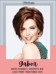 From its chin-length front layers to a tapered nape, this chic bob has a piece-y texture that can be styled towards the face for a playful look or brushed away for a sophisticated effect. #hairstyles #hairdo #hairoftheday #styleinspo #styles Gabor Wigs, Synthetic Lace Wigs, How To Lighten Hair, Bob Styles, Natural Looks, Lace Front Wigs, Hair Lengths, Layers, Hairstyles