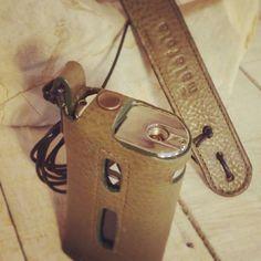 Gray-green leather for Eleaf iStick  50w case by Malafola #malafola #malafolacases #vapecommunity #vape #vaping #eleafistick #eleaf #istick #istick50w #design #fashion #instavape #vapelove #customized #madeinitaly #vapecase #luxury #sigarettaelettronica #vapeon #accessories #vapeaccessories