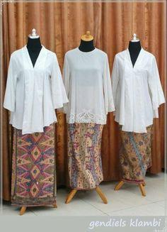 Image result for kebaya kutu baru putih Kebaya Lace, Kebaya Brokat, Batik Kebaya, Batik Dress, Kimono, Kebaya Modern Hijab, Model Kebaya Modern, Kebaya Muslim, Muslim Fashion