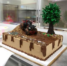 This cake is taking a ride on the muddy side...and by mud, we mean chocolate!
