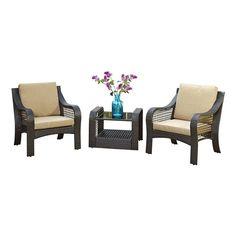 Home Styles Lanai Breeze 3 Piece Patio Sofa Set in Deep Brown Wicker Couch, Wicker Headboard, Wicker Bedroom, Wicker Table, Wicker Chairs, Patio Chairs, Wicker Baskets, Wicker Trunk, Wicker Planter