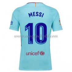 Fodboldtrøjer La Liga Barcelona 2017-18 Lionel Messi 10 Udebanetrøje