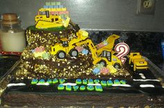 Side view of the construction cake