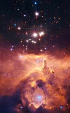 The star cluster Pismis 24 lies in the core of the large emission nebula NGC 6357 - Credit: NASA, ESA and Jesus Maiz Apellaniz