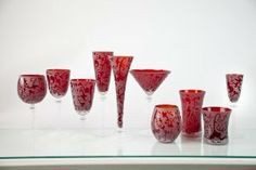 Skyros Designs Lauren Collection Glass Compote - Ruby by Skyros. $67.99