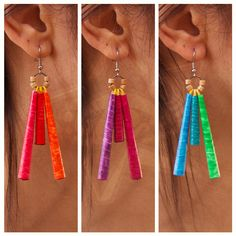 ZezeCraft&Design Pop Collection Earring 02 (ZCDPCE02) #recycle #earring…