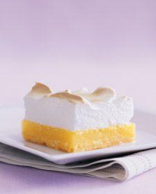 Lemon Meringue Bars. I love meringue!!!