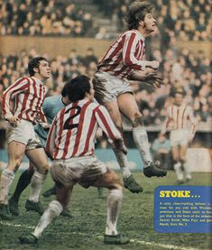 December Stoke City centre half Dennis Smith heads clear against Coventry City, at Highfield Road. Dennis Smith, Stoke City Fc, Coventry City, Golden Age, Pure Football, 1970s, Baseball Cards, Centre, Sports