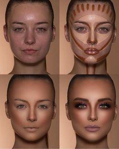 How To Do Make-up – Step By Step Ideas For The Good Look Spotlight contour hypnaughty.make-up samer khouzami mild pores and skin Makeup Hacks, Makeup Inspo, Makeup Inspiration, Makeup Ideas, Makeup Designs, Pro Makeup Tips, Makeup Goals, Glam Makeup, Makeup Geek