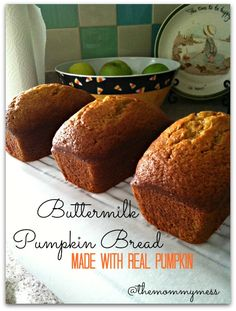 Buttermilk Pumpkin Bread Recipe - The Mommy Mess