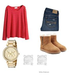 """""""Untitled #73"""" by rebecca-gardner-1 ❤ liked on Polyvore featuring Abercrombie & Fitch, UGG Australia, Michael Kors and Finesque"""