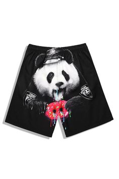 Panda printed makes our beach shorts very stylish. Whether it's in the swimming pool or on the beach, it can make you and your partner the focus of attention. Sports Trousers, Men Beach, Swim Trunks, Clothes For Sale, Clothing Items, Panda, Mens Fashion, Hoodies, Shorts