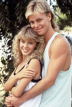 Kylie Minogue and Jason Donovan (Network Ten's soap opera: Neighbours, Australia.)