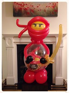 Lego ninjago stuffed balloon www.balloonblooms.co.uk