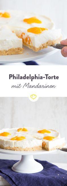 Du kennst Mandarinen aus der Dose nur von Omas Käsekuchen? Dann nichts wie mit Frischkäse und Joghurt gemischt und als Philadelphia-Torte genossen.