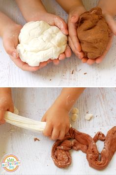 Combine two yummy play dough recipes to make a delicious smelling peppermint patty play dough!