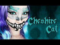 I love cheshire makeup :D Cheshire Cat Makeup, Cheshire Cat Halloween, Cheshire Cat Costume, Chesire Cat, Halloween 2014, Halloween Looks, Halloween Face Makeup, Halloween Ideas, Happy Halloween