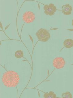 Mod Floral Dahlia Wallapaper by Brewster. Find this pattern at AmericanBlinds.com.